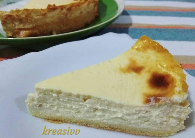 Baked cheesecake versi #keto
