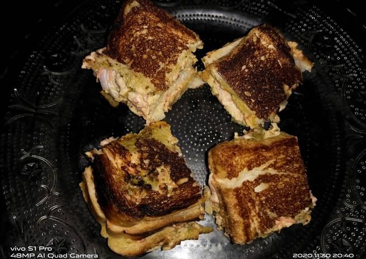 Quick mayo sandwich