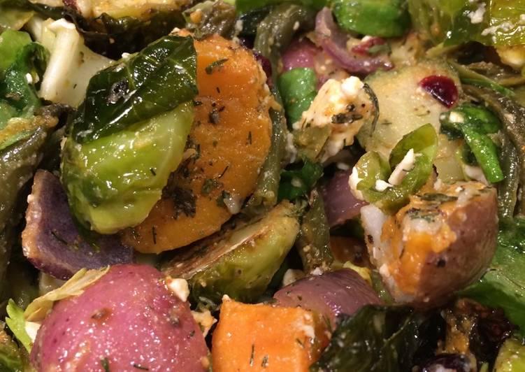 25 Minute Simple Way to Prepare Autumn Roasted Vegetable Salad