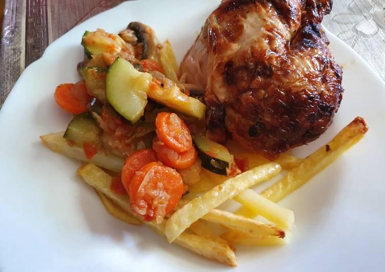 Verduras con patatas para carne
