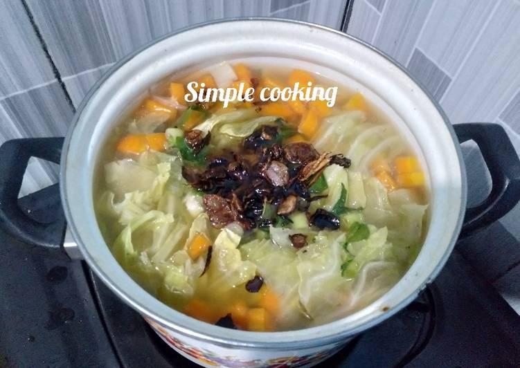 Sayur sup sehat
