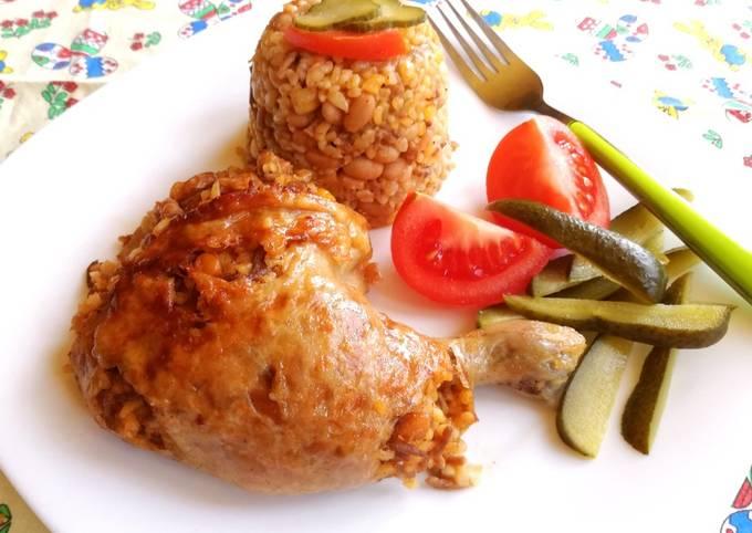 Receptek Bulguros chilisbabbal töltött csirkecomb??