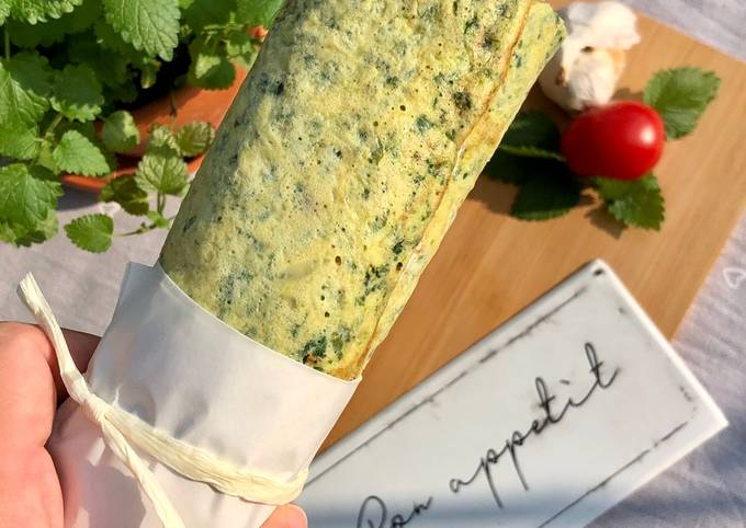 Spinat-Rolle (lowcarb)