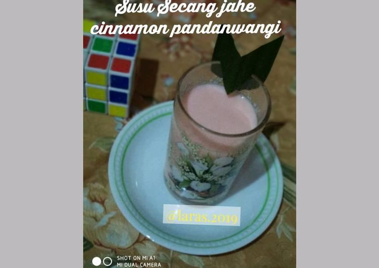 Susu Secang jahe cinnamon pandanwangi