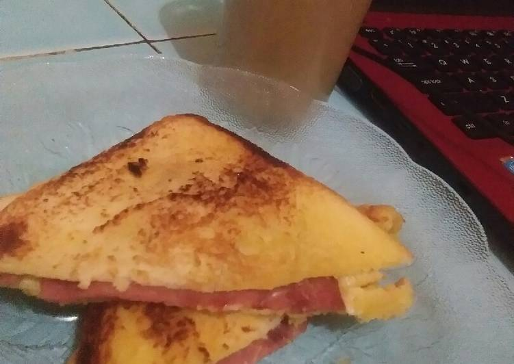 Smoked beef sandwich simple 4 menit