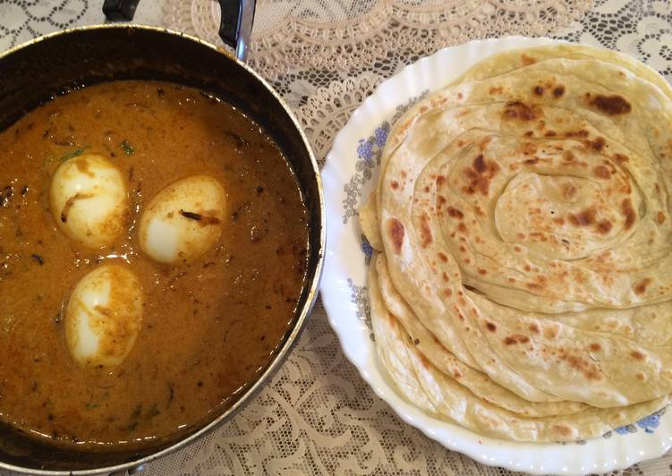 Home made Porotta (Kerala Paratha)