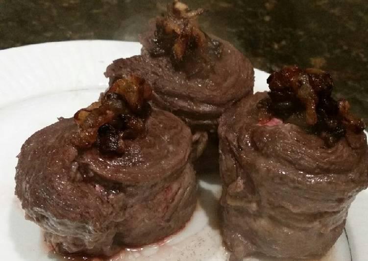 Brad's kalbi flank steak with carmelized onions