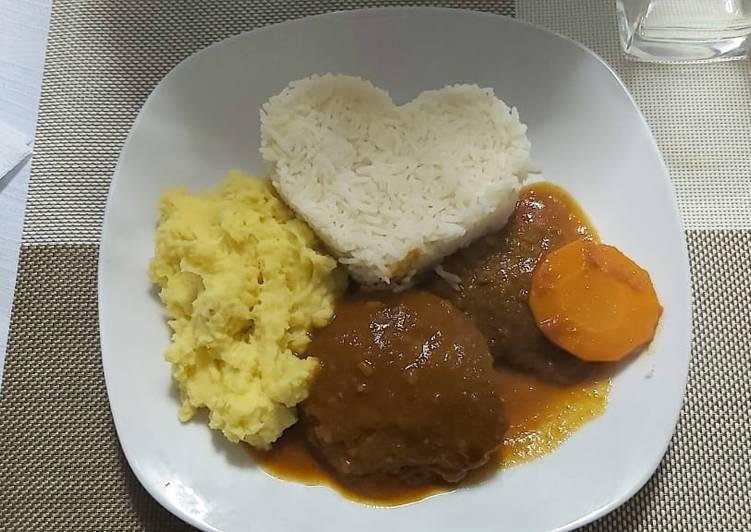 Asado de Pejerrey (Carne) y puré modo peruano
