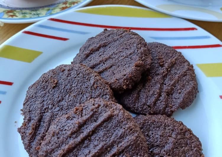 Eggless Choco Cookies