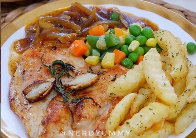 Blackpepper chicken steak
