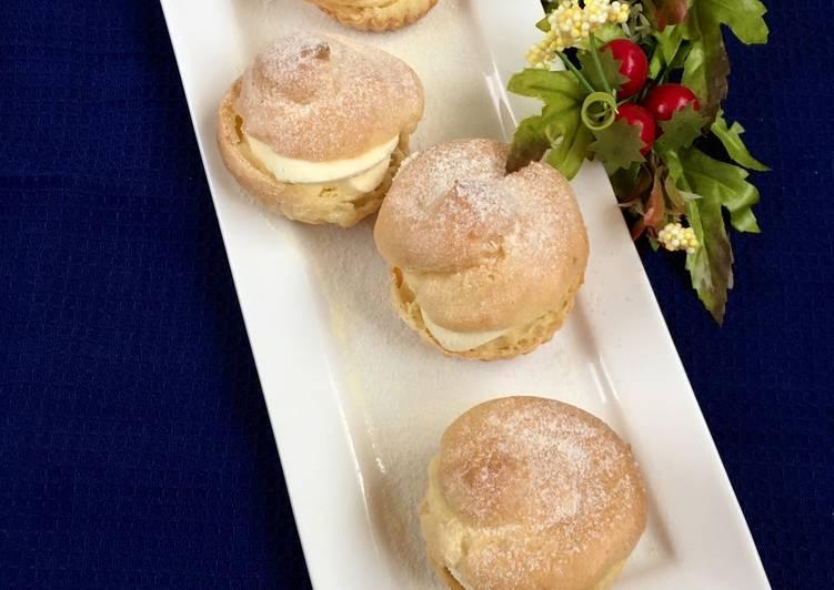 Puff pastry / soes cream vanilla