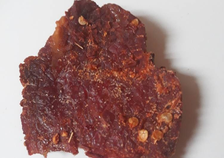 Recipe: Delicious Chilli Garlic Beef Jerky