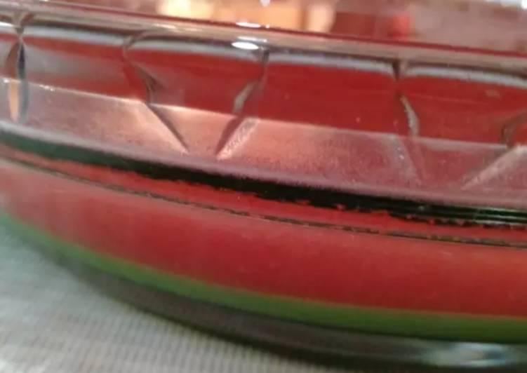 Puding semangka vla