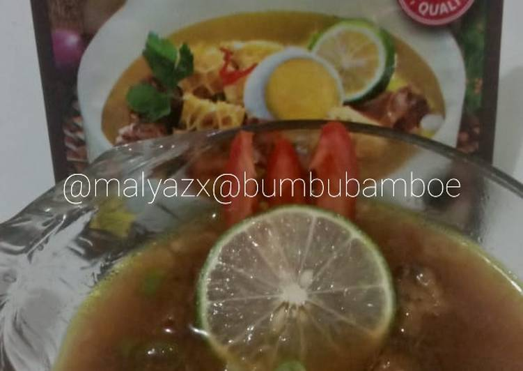 Resep: Soto Madura Instant feat. Bumbu Bamboe