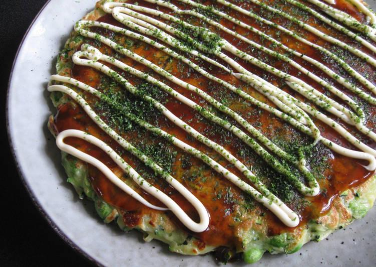 Zucchini & Edamame Okonomiyaki