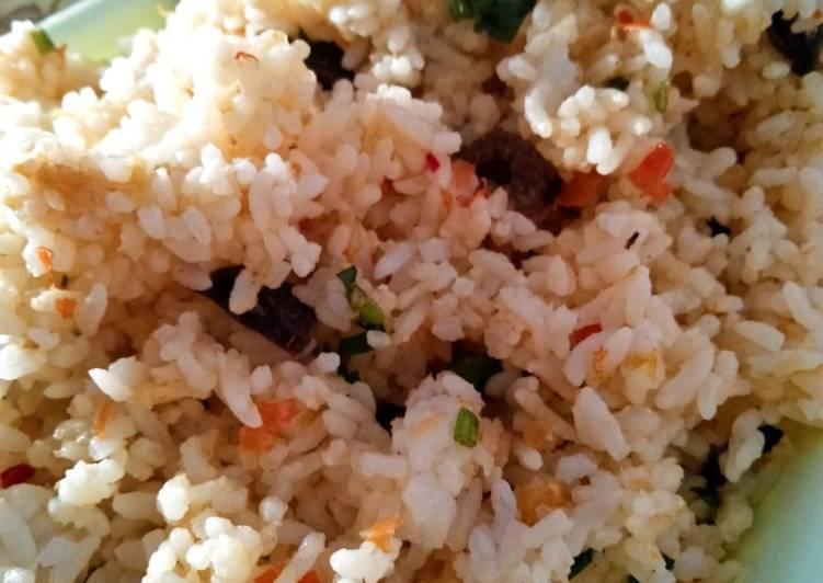 Nasgor Pelangi 🌈 (sambal mentah ati goreng)