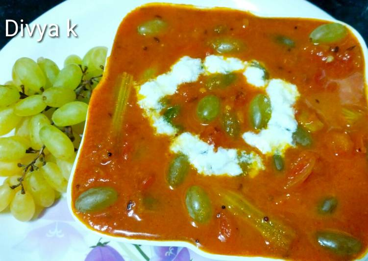 Recipe of Quick Grapes drumsticks curry