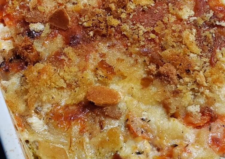 Carrot and Potato Gratin