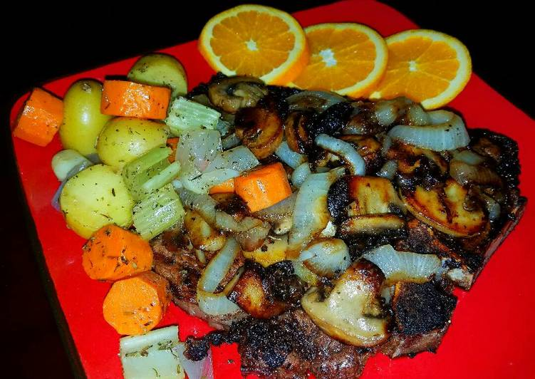 Mike's Porterhouse Steaks & French Vegetable Melody, Help Your Heart with The Right Foods