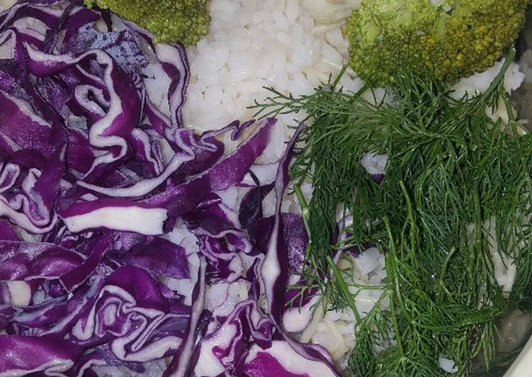 White rice with Cauliflower,fennel and broccoli