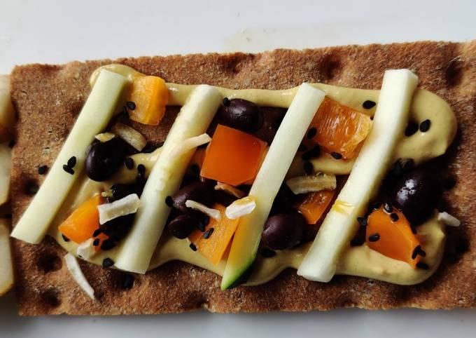 WFPB Wasa Cracker Appetizer