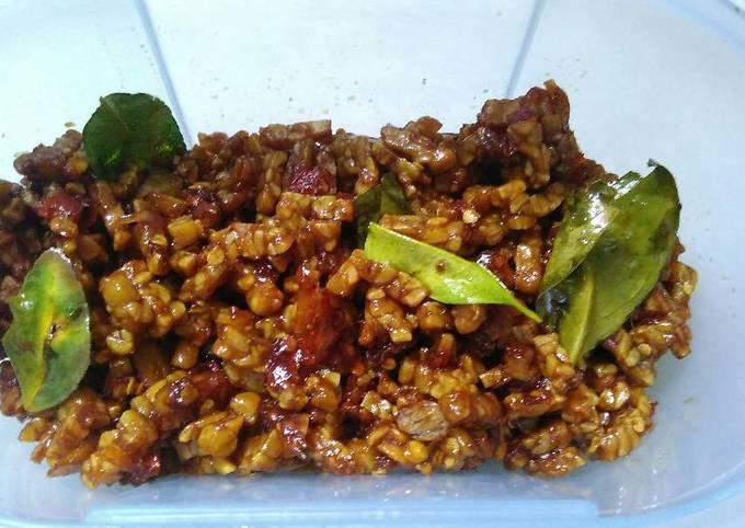 sambal goreng tempe (kering) - resepenakbgt.com