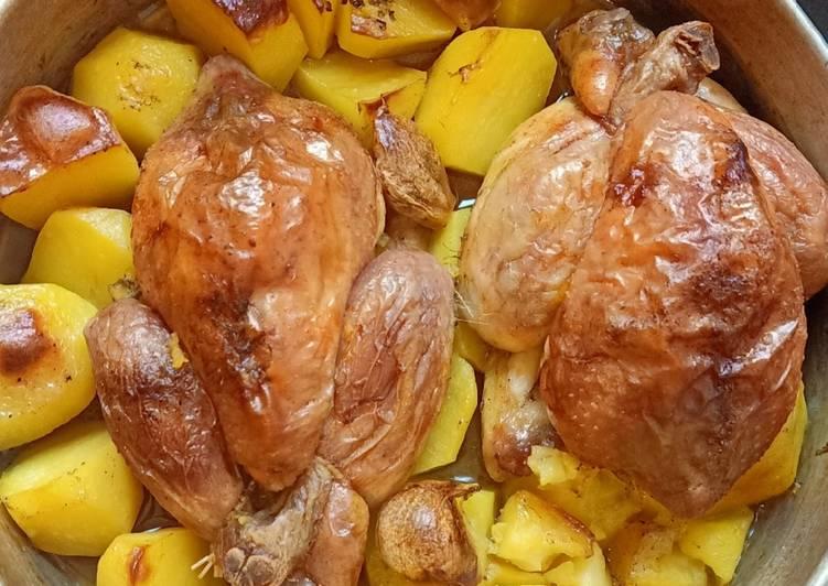Poulet et pomme de terre au four 😋❤️
