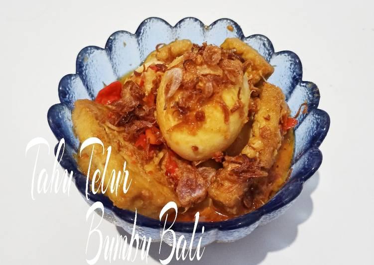 Tahu Telur Bumbu Bali