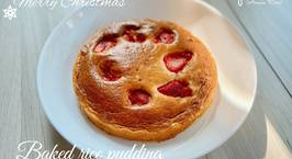 Hình ảnh món Baked rice pudding - ăn dặm