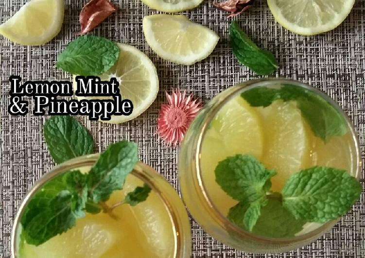 Lemon Mint & Pineapple #(Maraton Raya - Minuman) - resepipouler.com
