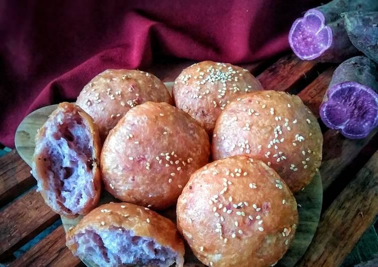 Roti goreng ubi ungu