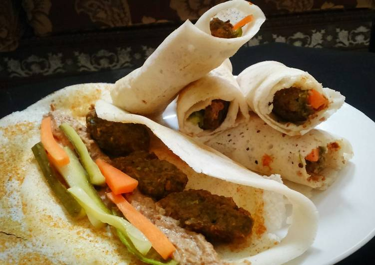 How to Make Ultimate Dosa wrap with falafel