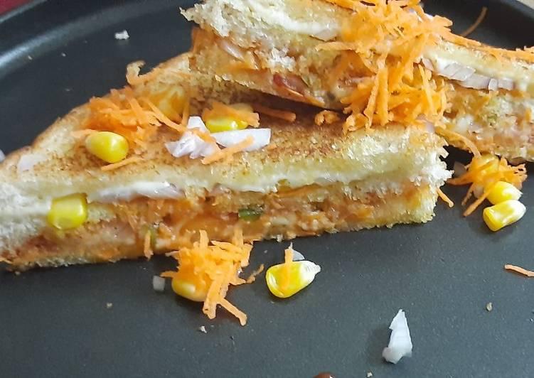 Cheesy Twist Veggie Sandwich