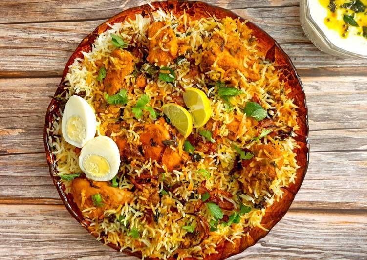 5 Minute How to Make Special Hyderabadi Kacchi Chicken Dum Biryani