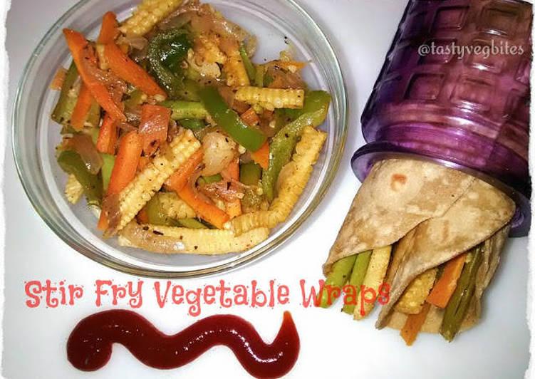 How to Prepare Tasty Stir fry vegetable wraps