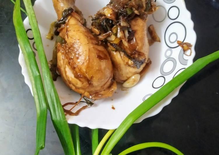 Spring onion chicken drumsticks
