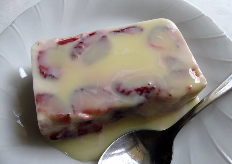 Steps to Make Perfect Creamy Milk Kanten Jelly with Fruit