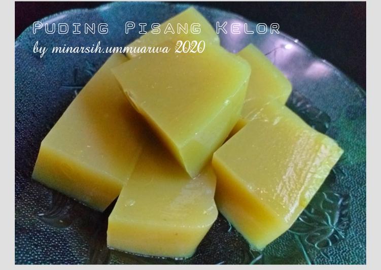 Puding Buah dan Sayuran (Pisang & Kelor) #106³