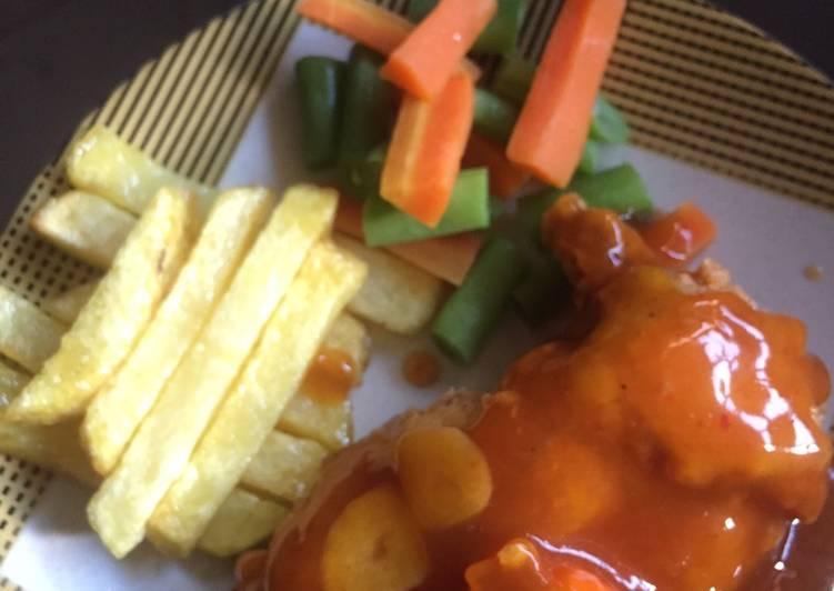 Chicken steak homemade