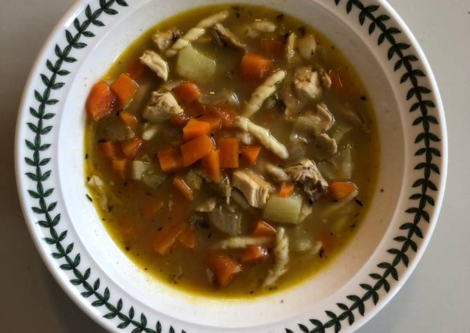 Use-up Chicken Soup