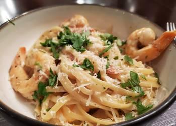 Easiest Way to Cook Perfect Garlic White Wine Shrimp Pasta