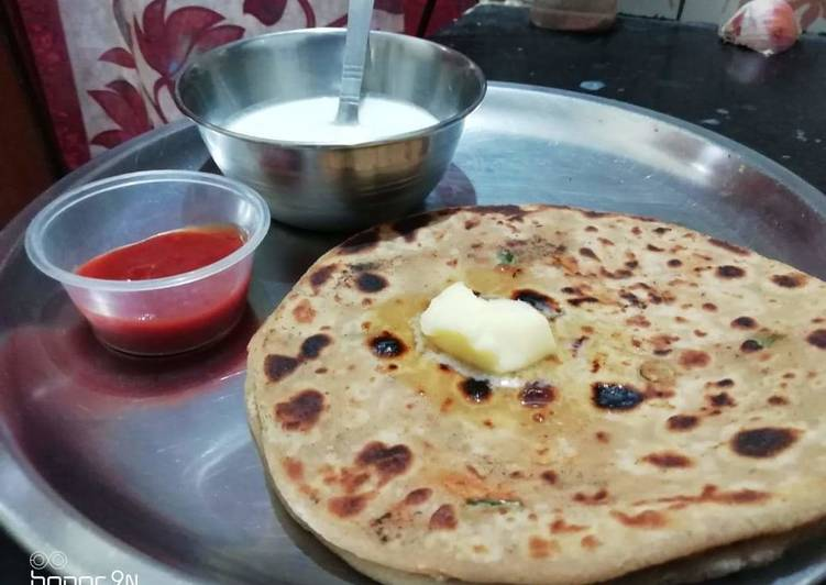25 Minute Recipe of Spring Mooli ka paratha