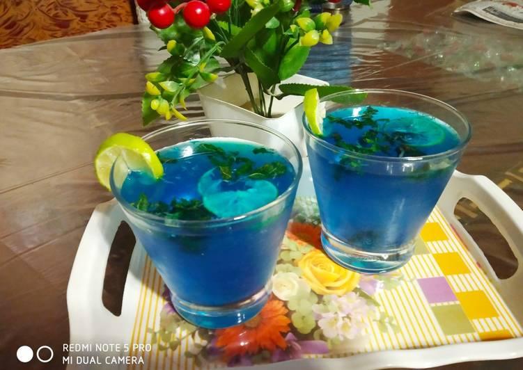 Recipe of Speedy Blue Lagoon Mocktail