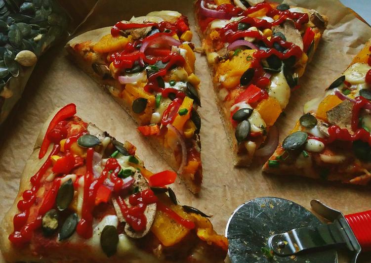 Jesienna pizza z DYNIĄ