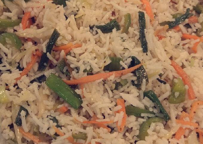 Chicken jalfrezi with fried rice