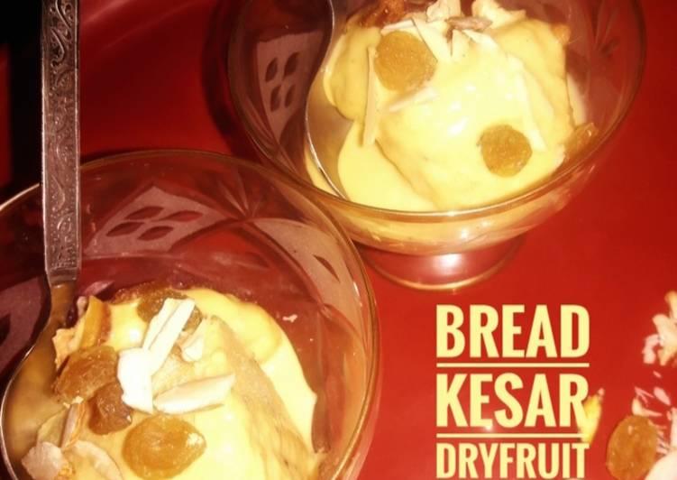 How to Make Yummy Bread Kesar Dry fruit Kulfi