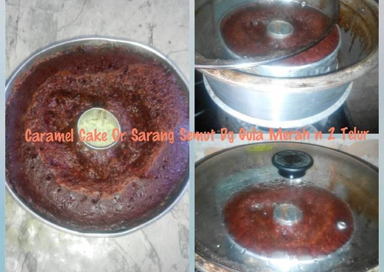 Caramel Cake Or Sarang Semut Dg Gula Merah n 2 Telur Tnp Mixer