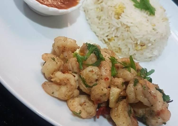 Recipe of Speedy Stir fry/garlic fry shrimps#yearendchallenge