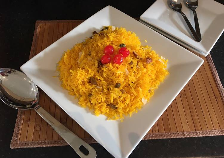 10 Minute Easiest Way to Prepare Super Quick Homemade Yellow Sweet rice (Zarda)