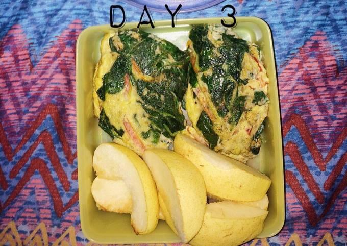 Omelette Mayo Diet Menu Day 3